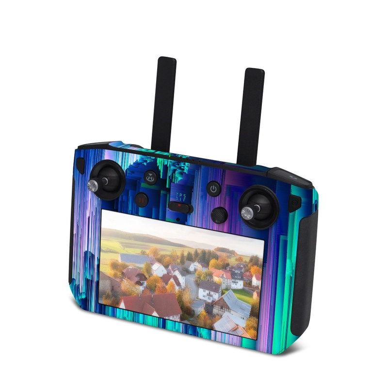 DJI Smart Controller Skin design of Blue, Green, Light, Colorfulness with blue, purple, pink, white colors