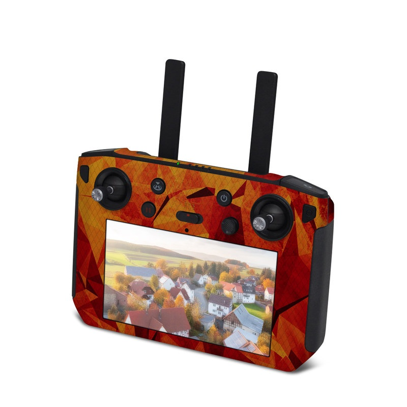 DJI Smart Controller Skin design with red, orange colors