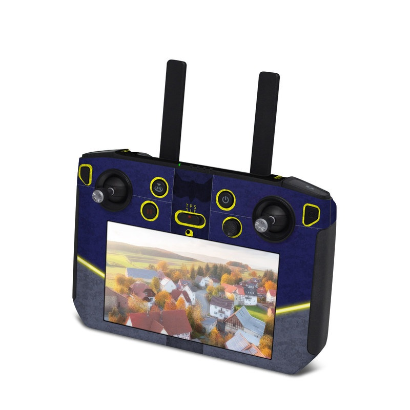 DJI Smart Controller Skin design with black, blue, yellow, gray colors