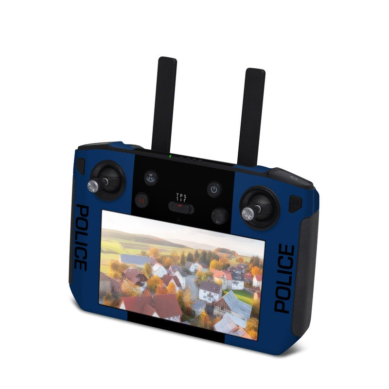 DJI Smart Controller Skin design with black, white, blue, red colors