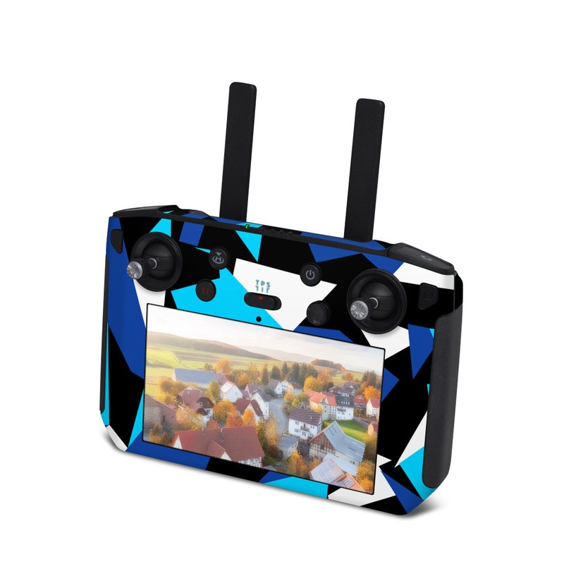 DJI Smart Controller Skin design with blue, white, black colors