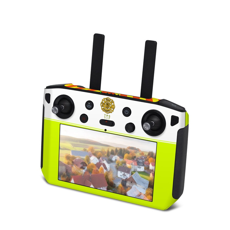 DJI Smart Controller Skin design with white, green, yellow, orange, red colors