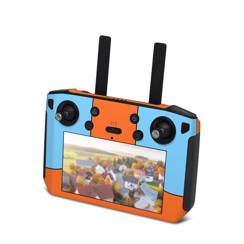 DJI Smart Controller Skin design of Line with blue, orange, black colors