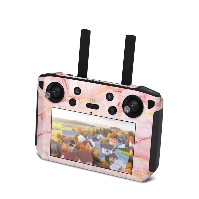 DJI Smart Controller Skin design of Pink, Peach with white, pink, red, yellow, orange colors