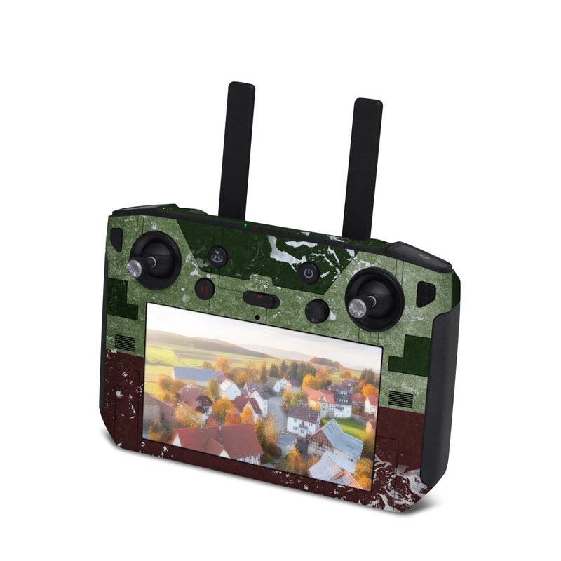 DJI Smart Controller Skin design with red, green, gray colors