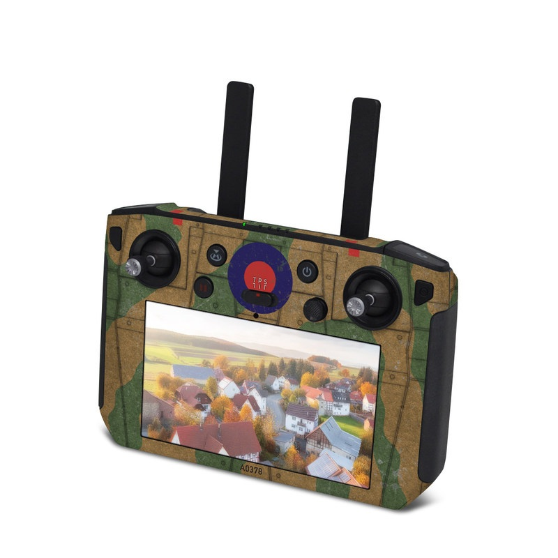 DJI Smart Controller Skin design with green, brown colors