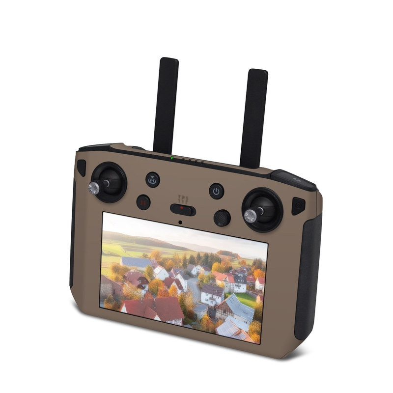 DJI Smart Controller Skin design of Brown, Text, Beige, Material property, Font with brown colors