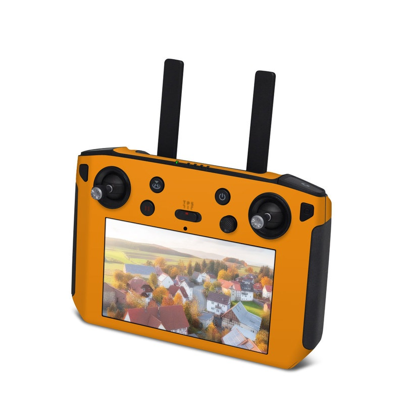 DJI Smart Controller Skin design of Orange, Yellow, Brown, Text, Amber, Font, Peach with orange colors