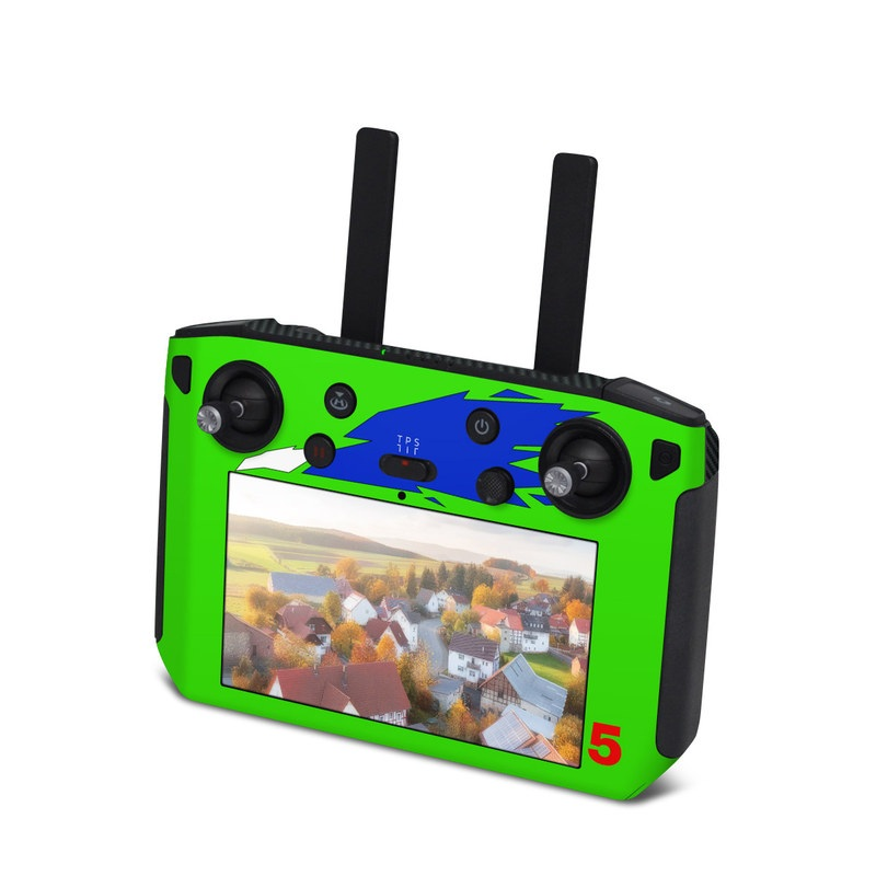DJI Smart Controller Skin design with green, blue, white, black colors