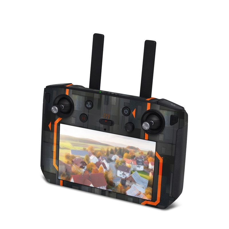 DJI Smart Controller Skin design with black, gray, orange colors