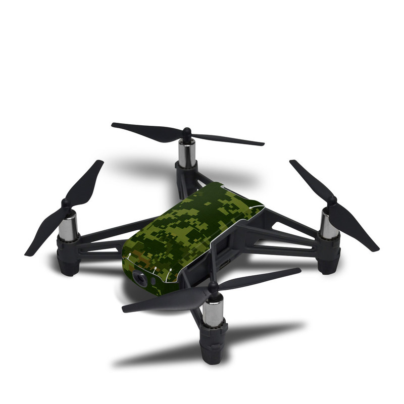 DJI Tello Skin design of Military camouflage, Green, Pattern, Uniform, Camouflage, Clothing, Design, Leaf, Plant with green, brown colors