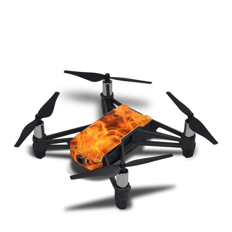DJI Tello Skin design of Flame, Fire, Heat, Orange with red, orange, black colors