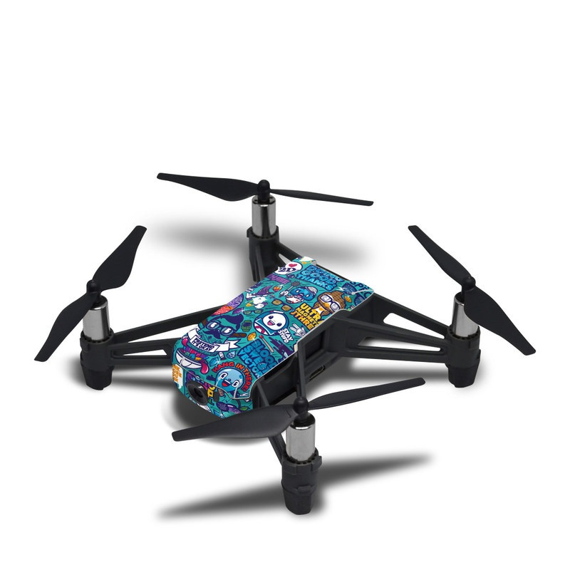 DJI Tello Skin design of Art, Visual arts, Illustration, Graphic design, Psychedelic art with blue, black, gray, red, green colors