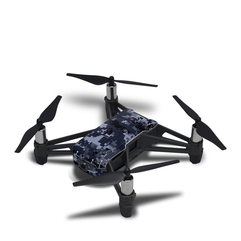 DJI Tello Skin design of Military camouflage, Black, Pattern, Blue, Camouflage, Design, Uniform, Textile, Black-and-white, Space with black, gray, blue colors
