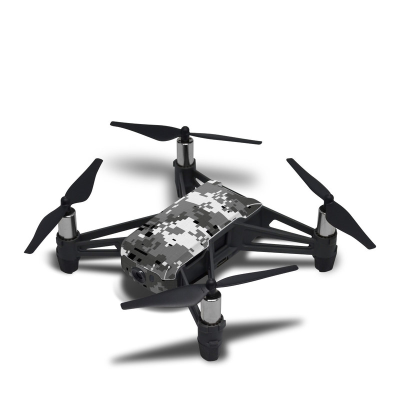 DJI Tello Skin design of Military camouflage, Pattern, Camouflage, Design, Uniform, Metal, Black-and-white with black, gray colors