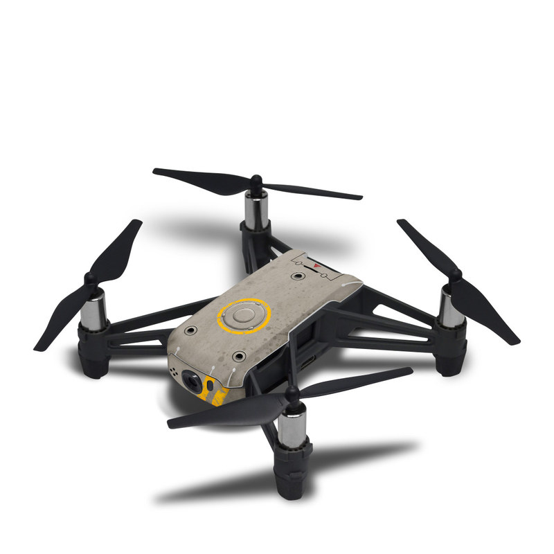 DJI Tello Skin design with gray, yellow colors
