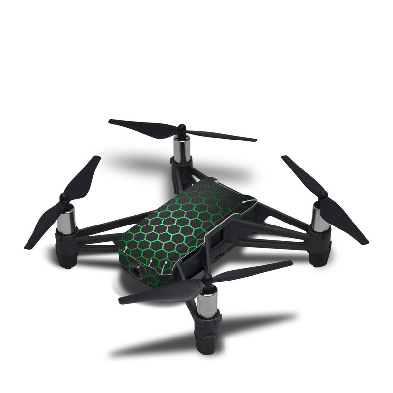 DJI Tello Skin design with black, gray, green colors