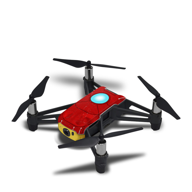 DJI Tello Skin design with red, yellow, white colors