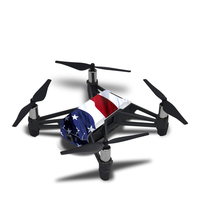 DJI Tello Skin design of Flag, Flag of the united states, Flag Day (USA), Veterans day, Memorial day, Holiday, Independence day, Event with red, blue, white colors