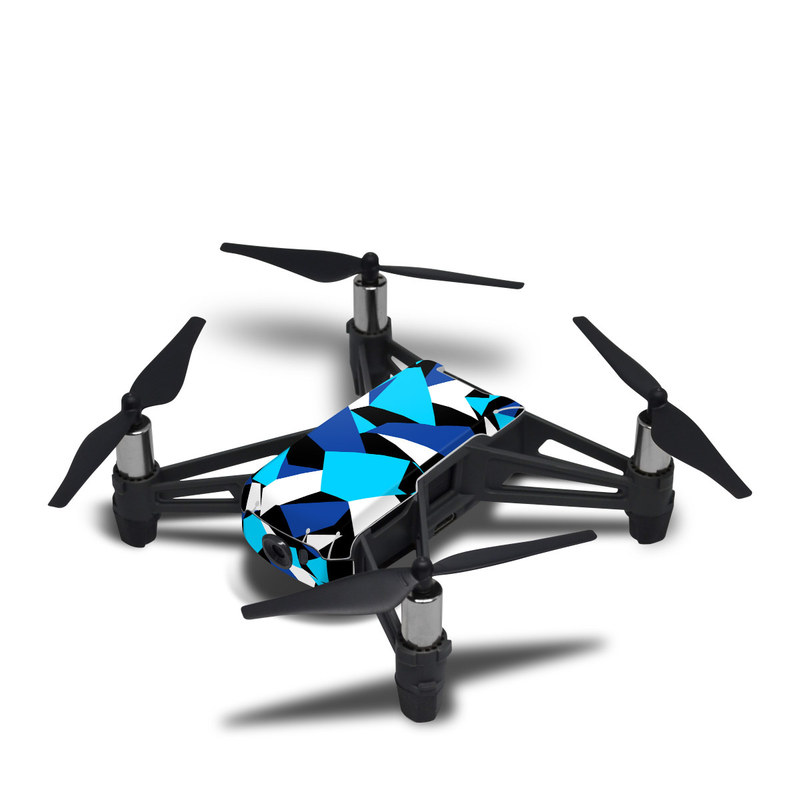 DJI Tello Skin design with blue, white, black colors