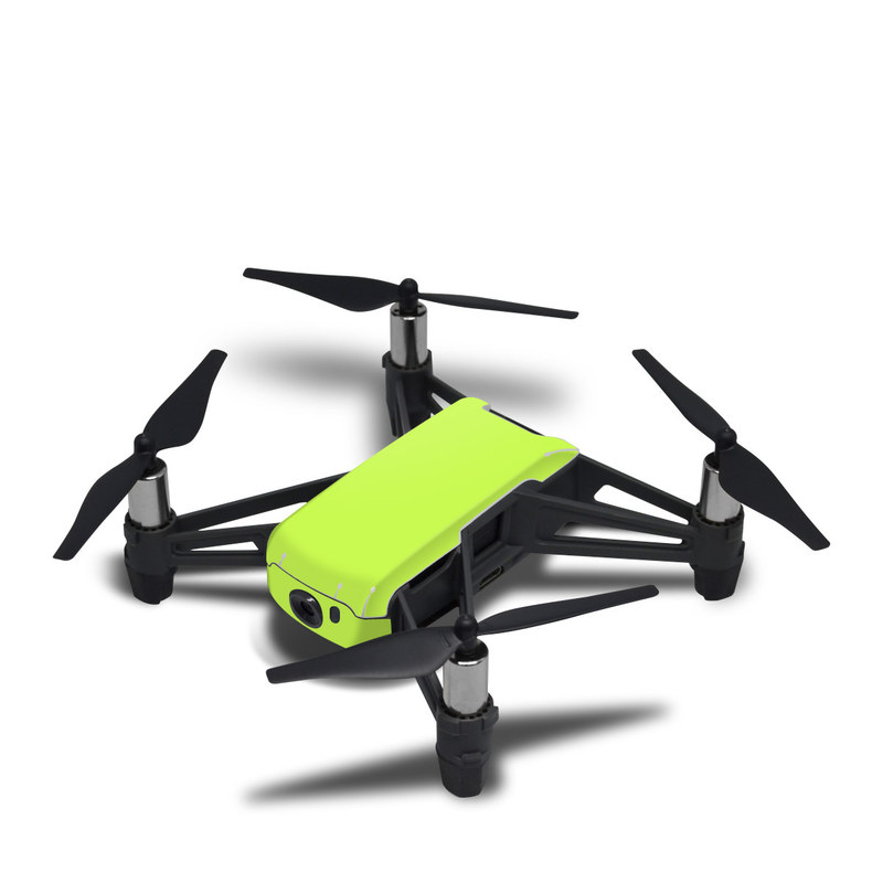 DJI Tello Skin design of Green, Yellow, Text, Leaf, Font, Grass with green colors