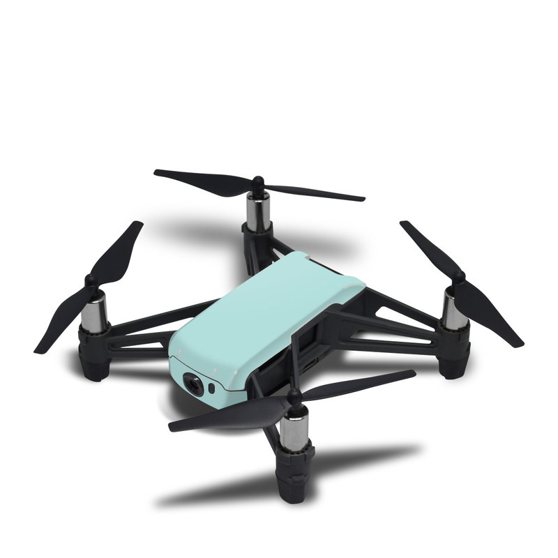 DJI Tello Skin design of Green, Blue, Aqua, Turquoise, Teal, Azure, Text, Daytime, Yellow, Sky with blue colors