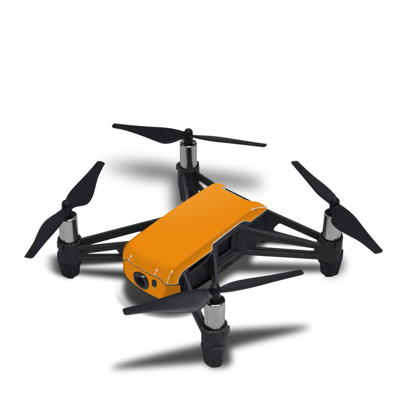 DJI Tello Skin design of Orange, Yellow, Brown, Text, Amber, Font, Peach with orange colors