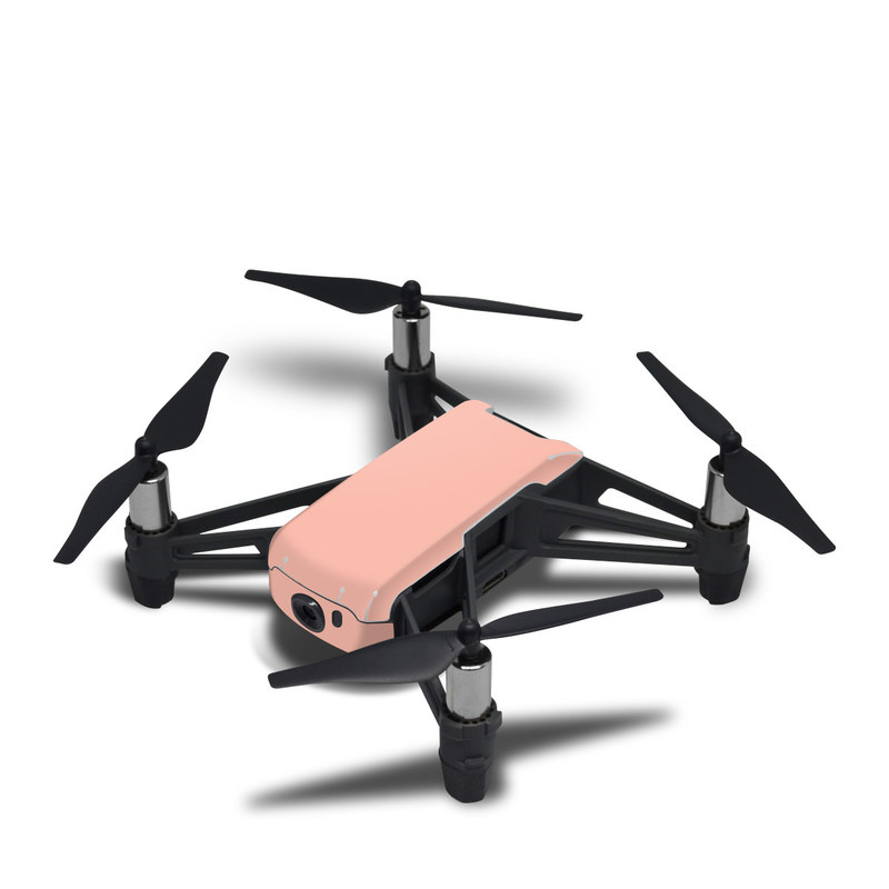 DJI Tello Skin design of Orange, Pink, Peach, Brown, Red, Yellow, Material property, Font, Beige with pink colors