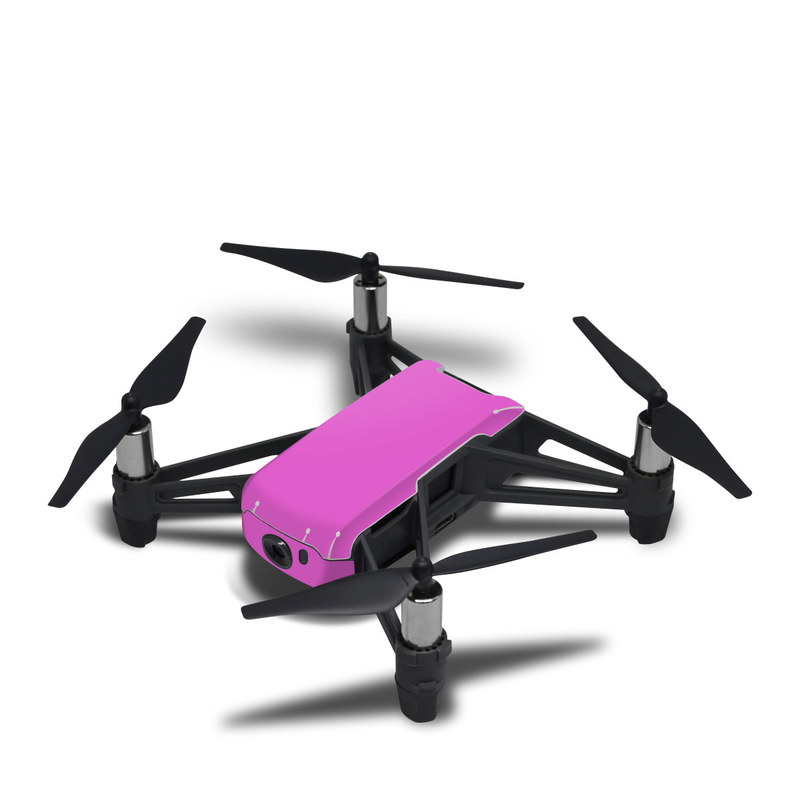 DJI Tello Skin design of Violet, Pink, Purple, Red, Lilac, Magenta, Blue, Lavender, Text, Sky with pink colors