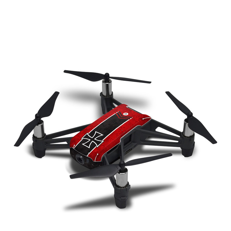 DJI Tello Skin design with red, black, white colors