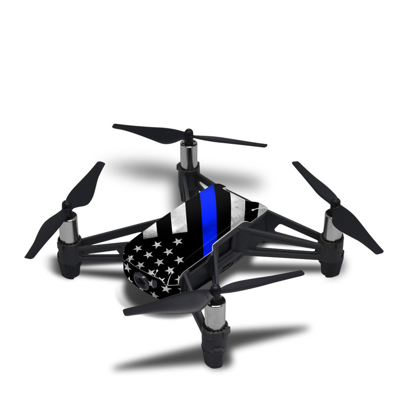 DJI Tello Skin design of Flag of the united states, Flag, Cobalt blue, Pattern, Line, Black-and-white, Design, Monochrome, Electric blue, Parallel with black, white, gray, blue colors
