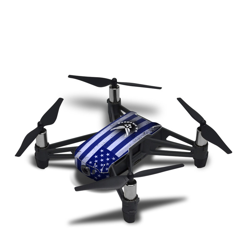 DJI Tello Skin design of Text, Font, Design, Pattern, Flag, Graphic design, Logo, Graphics, Illustration with black, gray, blue, purple colors