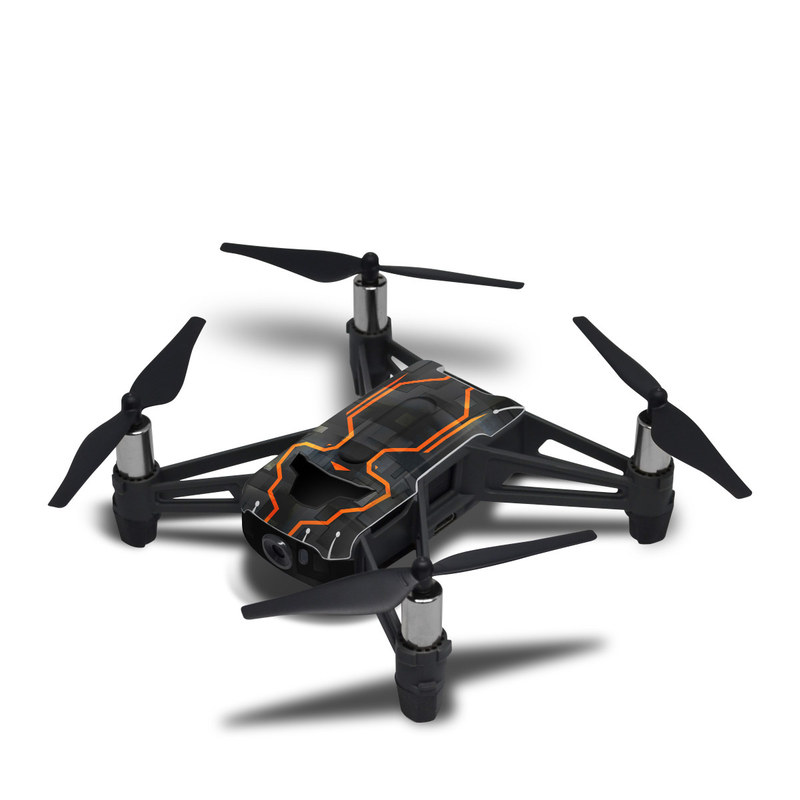 DJI Tello Skin design with black, gray, orange colors