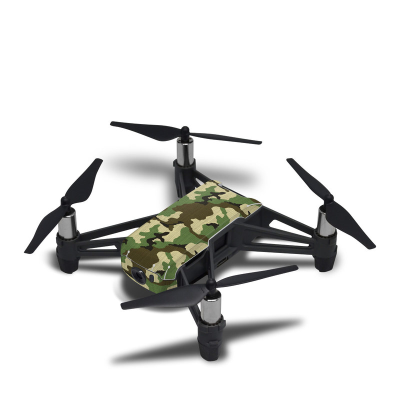DJI Tello Skin design of Military camouflage, Camouflage, Clothing, Pattern, Green, Uniform, Military uniform, Design, Sportswear, Plane with black, gray, green colors