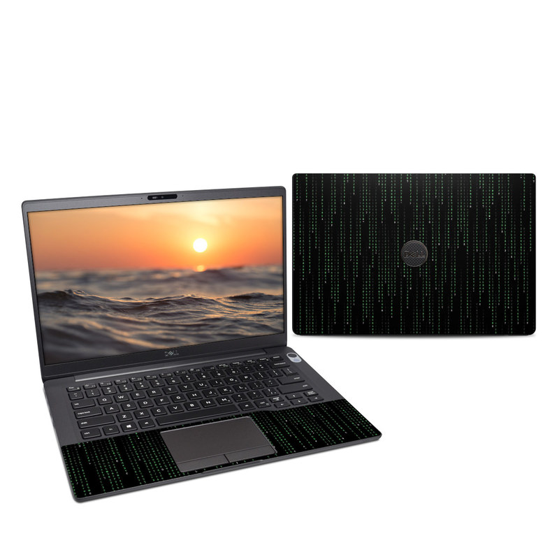 Dell Latitude 7400 Skin design of Green, Black, Pattern, Symmetry with black colors