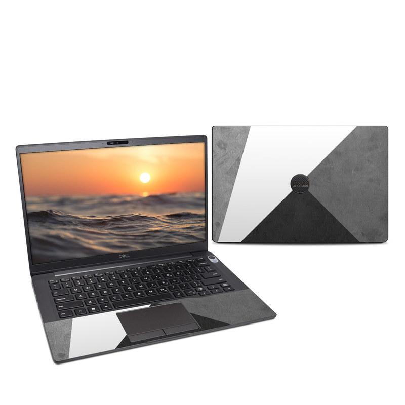 Dell Latitude 7400 Skin design of Black, White, Black-and-white, Line, Grey, Architecture, Monochrome, Triangle, Monochrome photography, Pattern with white, black, gray colors