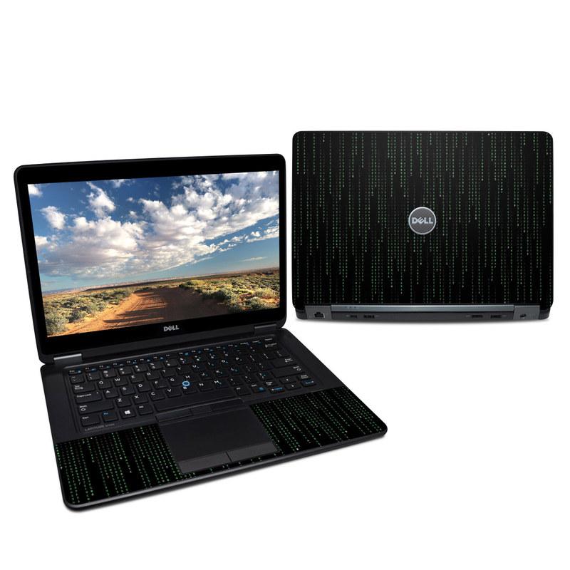 Dell Latitude E7450 Skin design of Green, Black, Pattern, Symmetry with black colors