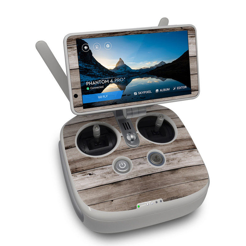 Barn Wood DJI Phantom 4 Pro Plus Controller Skin