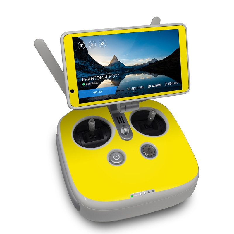 Solid State Yellow DJI Phantom 4 Pro Plus Controller Skin