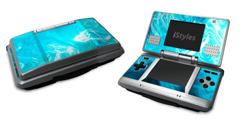Blue Quantum Waves Nintendo DS Skin