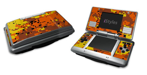 Digital Orange Camo Nintendo DS Skin