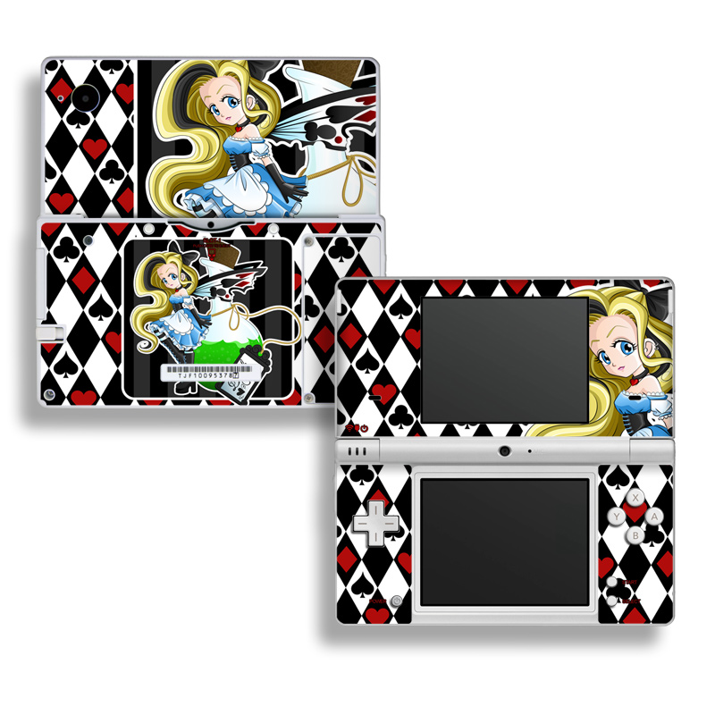 Nintendo DSi Skin design of Cartoon, Illustration, Games, Fictional character, Clip art, Graphics, Art with black, white, red, blue, green, yellow colors
