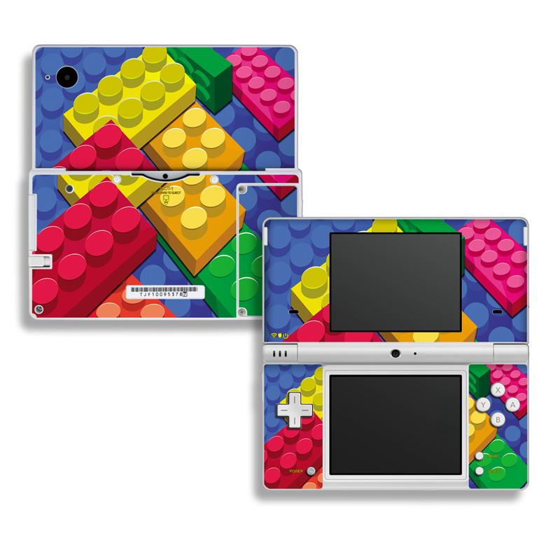 Nintendo DSi Skin design of Colorfulness, Pattern, Circle, Games, Play with red, blue, green, yellow, orange, pink colors