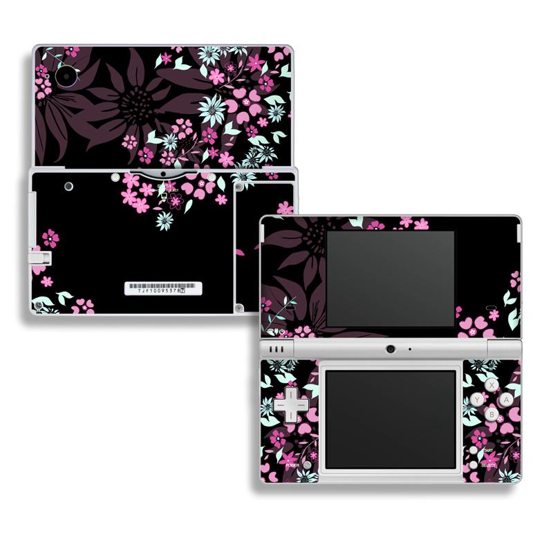 Dark Flowers Nintendo DSi Skin