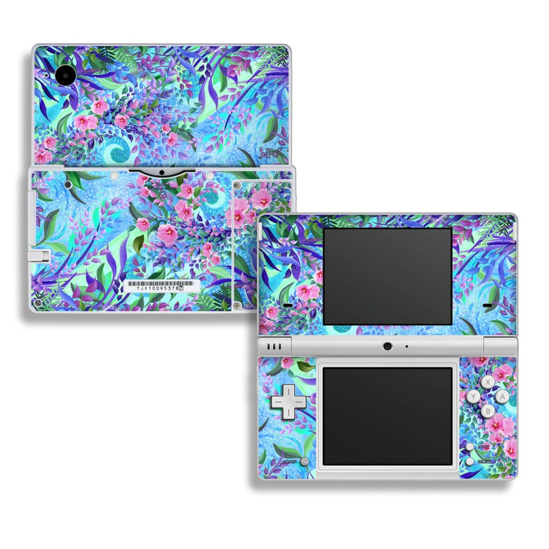 Nintendo DSi Skin design of Psychedelic art, Pattern, Lilac, Purple, Art, Pink, Design, Fractal art, Visual arts, Organism with gray, blue, purple colors