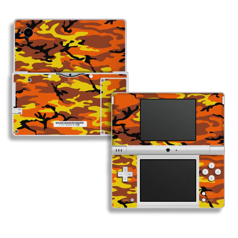 Orange Camo Nintendo DSi Skin