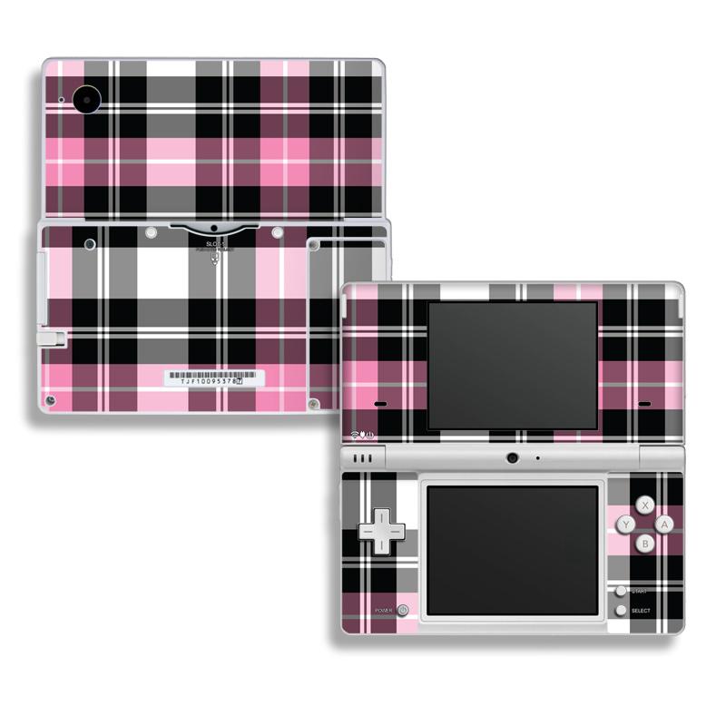 Pink Plaid Nintendo DSi Skin
