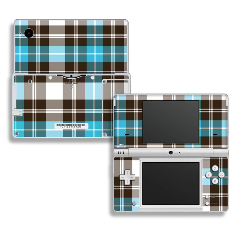 Turquoise Plaid Nintendo DSi Skin