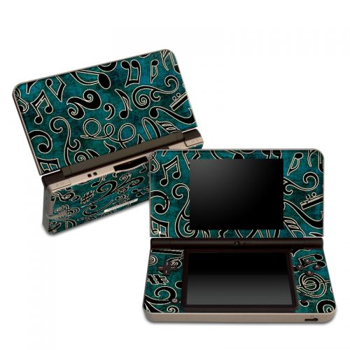 Music Notes Nintendo DSi XL Skin