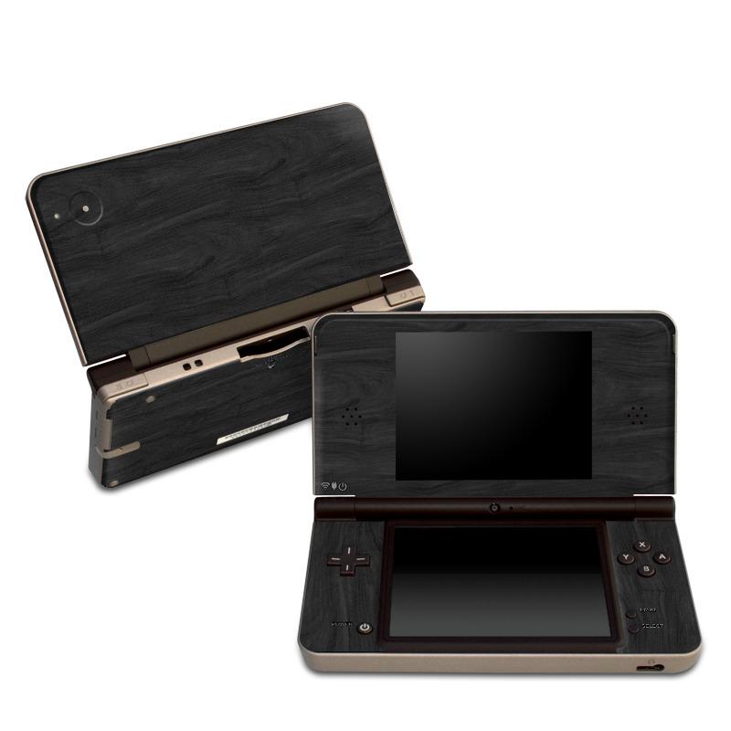 Black Woodgrain Nintendo DSi XL Skin